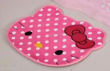 NEW Hello Kitty Bow Cute Big Head Floor Plush Mat Rug Skidproof Carpet PINK