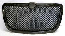 Gloss Black Honeycomb  Front Grill Fits Chrysler 300 300C 2005-2010