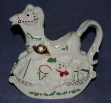 Vintage Lenox Rocking Horse Teapot/Pitcher In Vg Condition