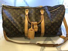 Louis vuitton Keepall 55 Leather Canvas Monogram Travel Luggage Duffle Bag