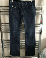 Womens Diesel Doozy Jeans Low Rise Blue Italy Stretch Denim Pants Size W29 L32