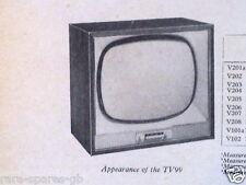 BUSH TV99 TV99C  * 405-LINE TV * ORIGINAL VINTAGE TRADER SERVICE SHEET 1538