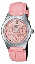 Casio Women's Collection Analogue Quartz Watch with Genuine Leather Strap LTP-20