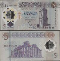 Libye Pnew 5 Dinar B551 2021 10th Annv Revolution Comm Émission Polymère @ Ebs