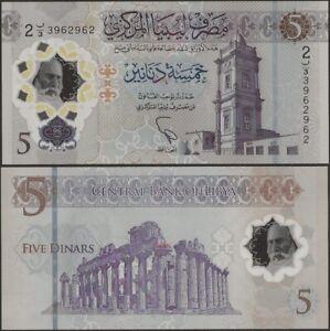 Libya Pnew 5 Dinar B551 2021 10th Annv Revolution Comm Issue Polymer @ EBS