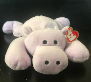 """ty pillow pals Tubby the hippo plush 1996 VINTAGE 15"""" Purple  Soft Toy"""