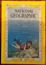 January 1962 National Geographic vintage issue Easter Island Sharks sunken ship