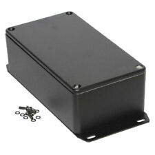 Hammond 1590KFBK Diecast Enclosure Flanged Base Black (125 x 125 x 75mm)