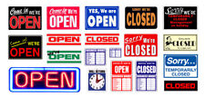1:24 1:25 G scale model open closed signs