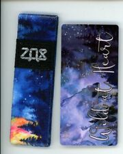 Medium ZOX Silver Strap WILD AT HEART Wristband with Card Reversible