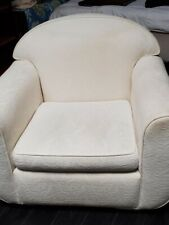 Contemporary White Accent Chair - livingroom or bedroom comfortable/stylish