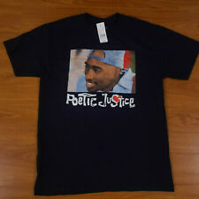 NWT Men's Poetic Justice Tupac Graphic Tee Black Medium