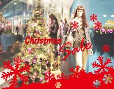 7ft Huge Snowflake Snow Christmas Slae Shop Show Window Wall Decoration Sticker