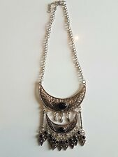 Antiqued Silver Tassel African Tibet Bohemian Festival Ethnic Tribal Necklace