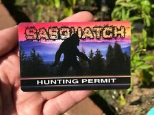 Sasquatch Hunting Permit Card / Sasquatch Gifts / Gifts For Kids *Sasquatch