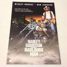 Harley Davidson and the Marlboro Man Don Johnson 1991 Danish Movie Press Release