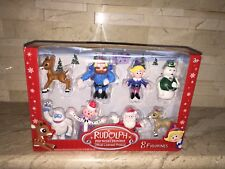 RUDOLPH THE RED NOSED REINDEER 8 FIGURE SET
