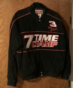 Chase Authentics Nascar Dale Earnhardt Sr. Racing Jacket Suede L Vintage