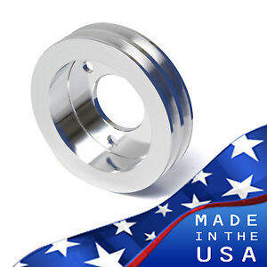 Ford FE Engine Crankshaft Pulley 390 427 428 2V Crank Polished Billet Aluminum
