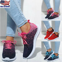 Women Casual Breathable Trainers Ladies Lace Up Sports Running Shoes Sneakers US