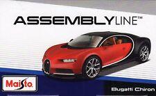Bugatti Chiron Die-cast Metal Modelo Kit de coche por Maisto escala 1:24