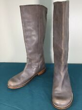 Used Kickers Brown Leather Pull On Knee High Womens Riding Boots sz 41