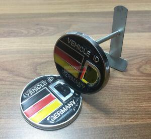 Viehcle ID Germany Round Wolfsburg Badge Grille Emblem Fit  VW Audi BMW Porsche