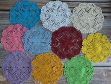10 Assorted Crochet Doilies Lot French Country Wedding Table Runners Coasters