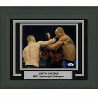 FRAMED Autographed/Signed JUSTIN GAETHJE UFC MMA Champ 8x10 Photo PSA/DNA COA