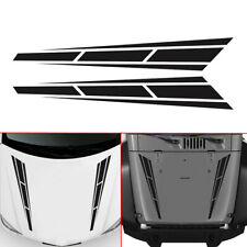 2X Auto Car Front Stickers Racing Stripes Vinyl Graphics Decal Hood Accessories