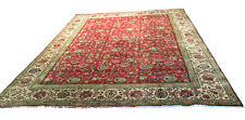 """Old Hand Knotted wool rug saruq 1678 9'2""""x12'6& #034;"""