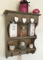 Rustic Wall Unit Farmhouse Shelf Cupboard Cabinet Small Display Storage Shelves