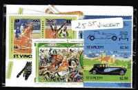 Saint Vincent 25 timbres différents