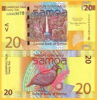Samoa 20 Tala p-40cr 2017 AUNC Banknote