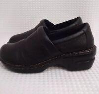 BOC Born Concept Womens Clogs Nursing Shoes Black Pebbled Leather Size 8 1/2