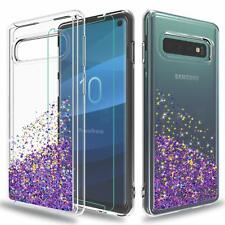 For Samsung Galaxy S10 Case Liquid Glitter TPU With 3D HD Screen Protector Film