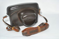 Exc*  Leica Leitz Wetzlar Brown Leather for M2 M3 Camera Body Case Vintage F/S