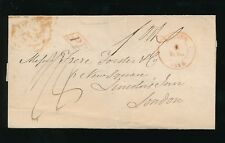 BELGIUM 1844 PP BOXED to LONDON BRUGES RED D CIRCLE