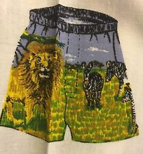 New Boxer Shorts 100% Cotton Sewing Material Fabric Panel Lion M L XL Boys