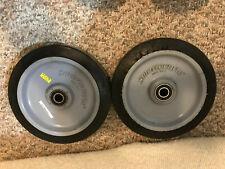 "Mart Cart Rear Wheels (2) - Flat Wheel - 8"" X 1.5"" Solid Tire - Used"