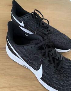 NIKE AIR ZOOM PEGASUS 36 Running Shoes Black White Size UK 7 EUR 41