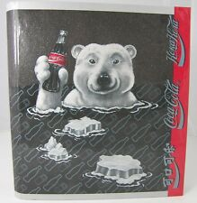 COKE COCA COLA Polar Bear 3 Ring Curveback Binder Notebook + Chinese & Russian
