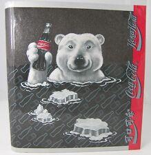 COKE COCA COLA Polar Bear 3 Ring Curveback Binder Notebook + Chinese & Russian