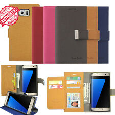 Double Stand Flip Book Leather ID Wallet Case Cover For Galaxy S/ iPhone /LG