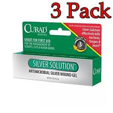 Curad Silver Solution Antimicrobial Gel, 0.5oz, 3 Pack 884389123273T239