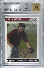 2004 Grandstand Idaho Falls Chukars Minor Miracles /188 Billy Butler BGS 9 Auto