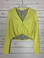 Cabi Women's S S Small Yellow Button Up Cute Summer Fall Sweater Cardigan $108