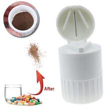 Quality Pill Cutter Powder Crusher Grinder splitter Medicine Storage Box US Ship