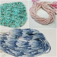 """AAA QUALITY NATURAL OPAL FACETED RONDELLE BEADS 3-4 MM 13"""" GEMSTONE STRAND"""