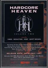 HARDCORE HEAVEN Rave Flyer A5 28/7/97 Promotional CD Album Flyer